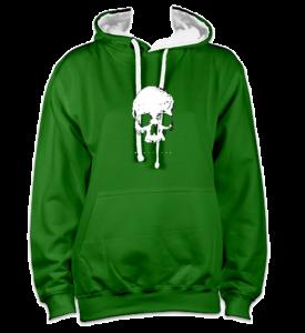 skull-front-greenwhite-hoodie