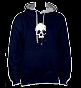 skull-front-navygrey-hoodie